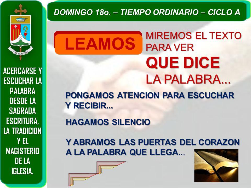 LEAMOS QUE DICE LA PALABRA... MIREMOS EL TEXTO PARA VER