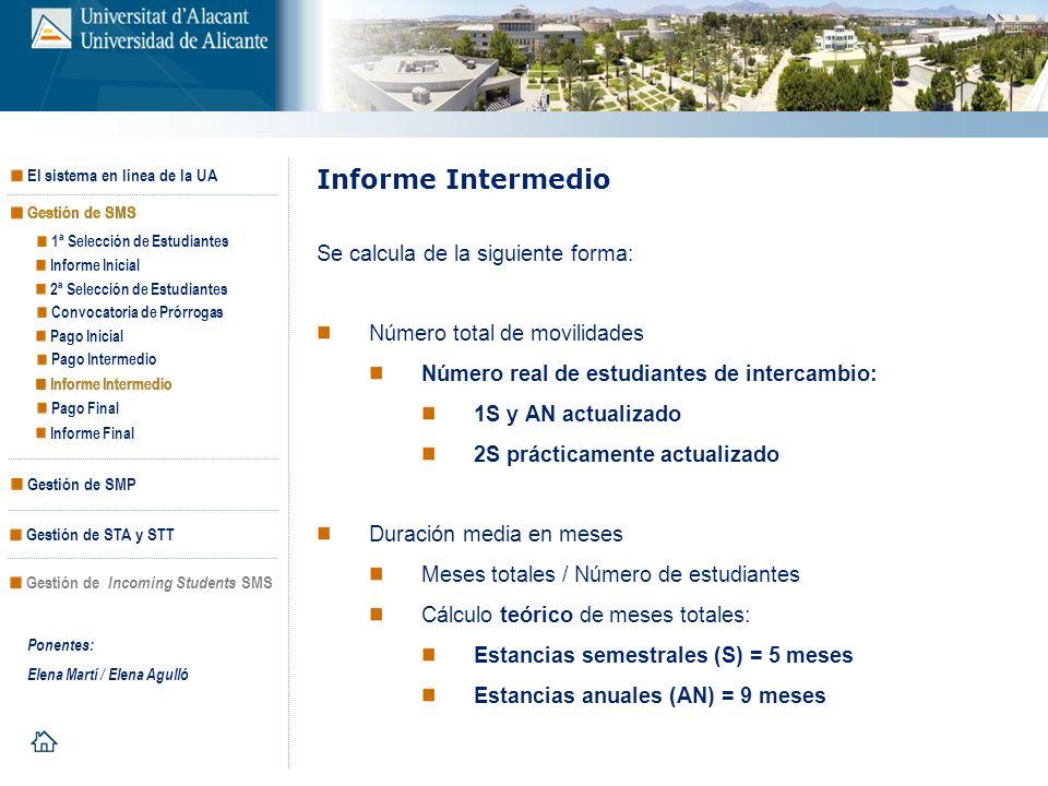 Informe Intermedio Se calcula de la siguiente forma: