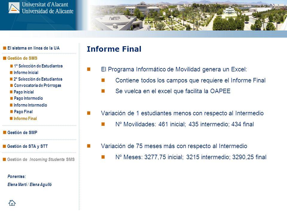 Informe Final El Programa Informático de Movilidad genera un Excel: