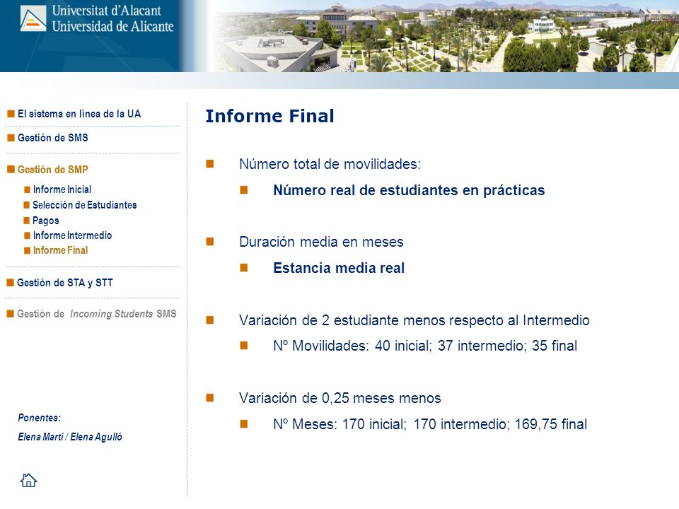 Informe Final Número total de movilidades:
