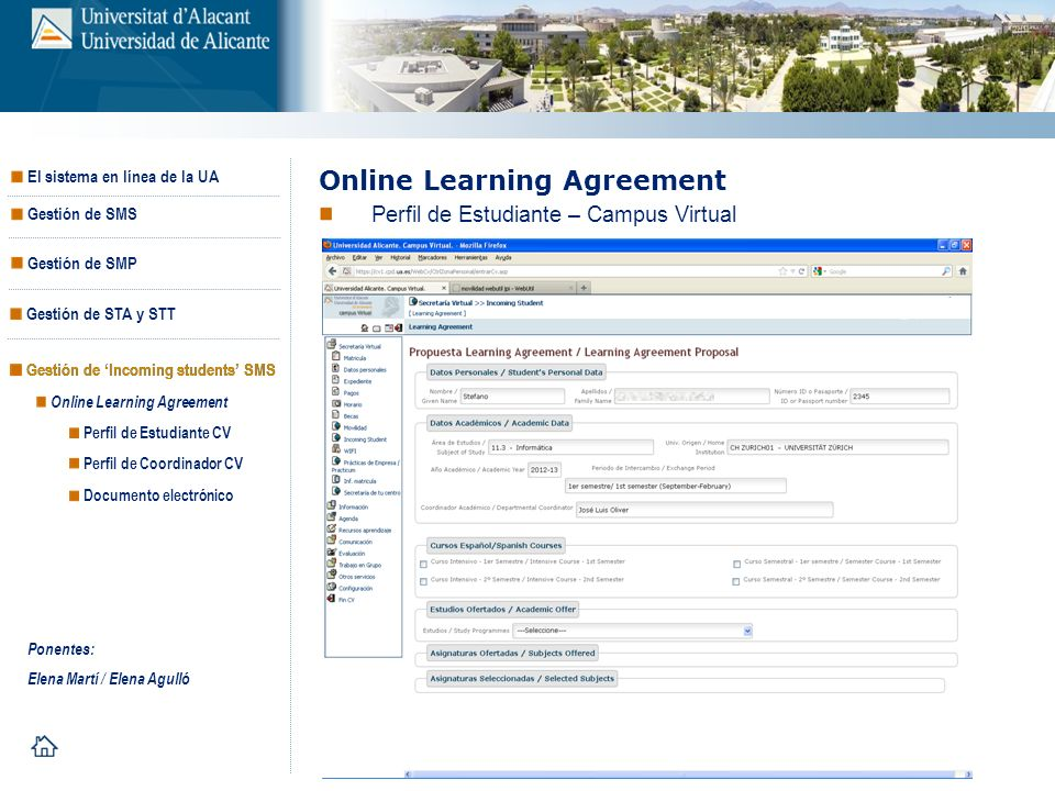 Online Learning Agreement