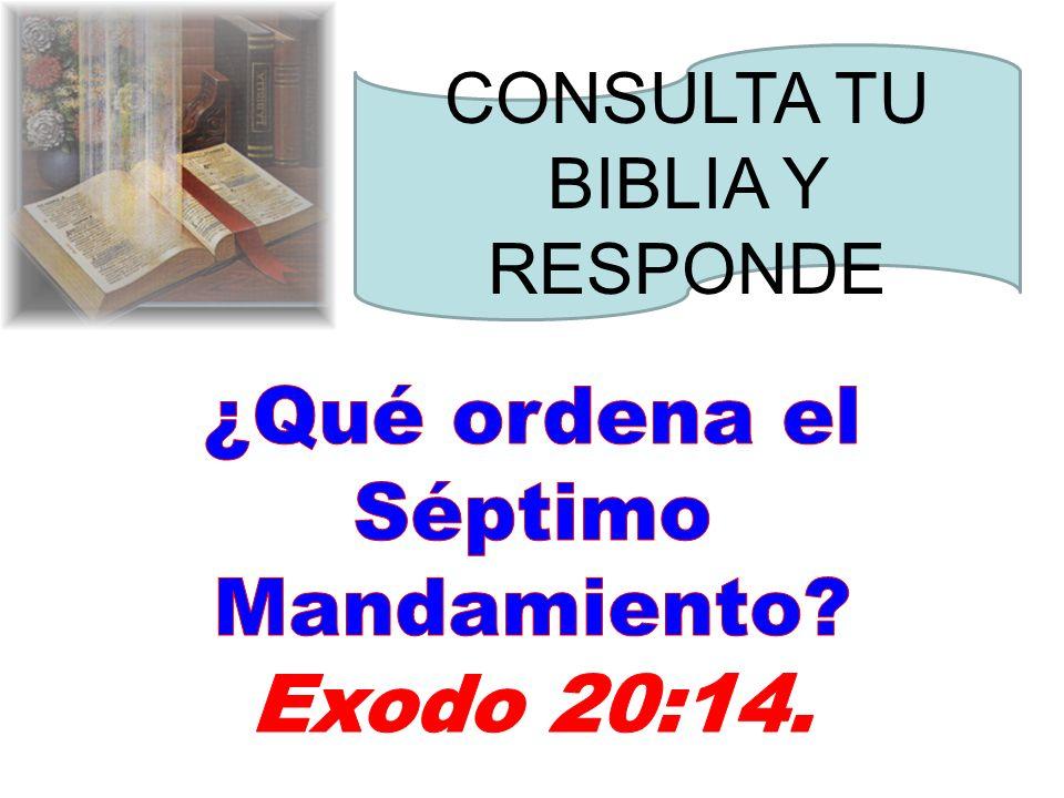 ¿Qué ordena el Séptimo Mandamiento Exodo 20:14.