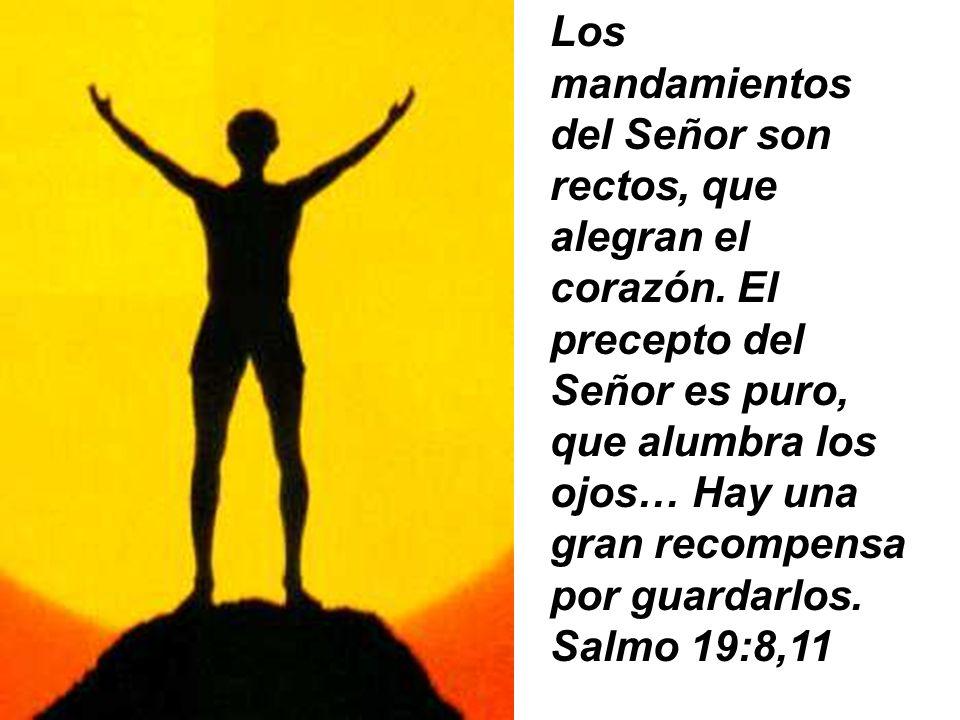 Los mandamientos del Señor son rectos, que alegran el corazón