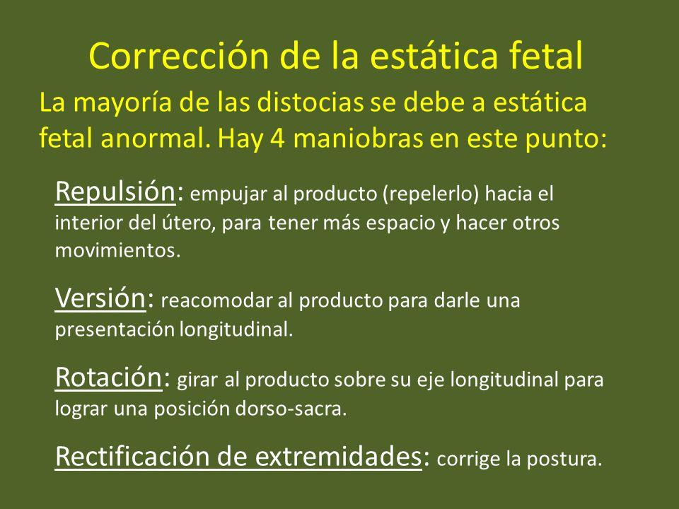 Corrección de la estática fetal