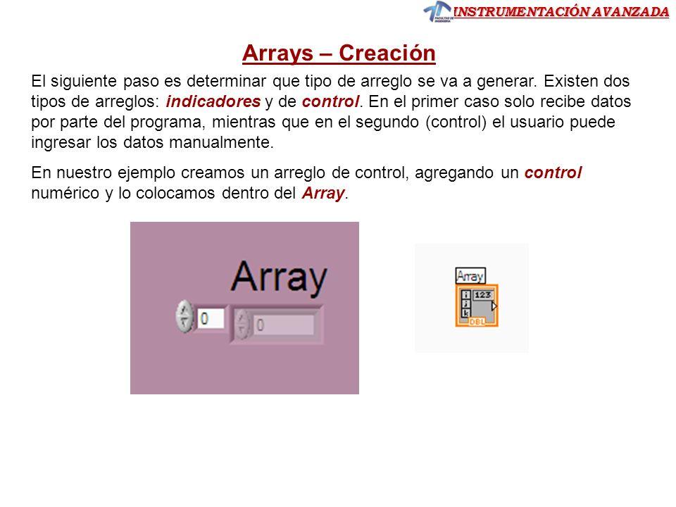 Arrays – Creación