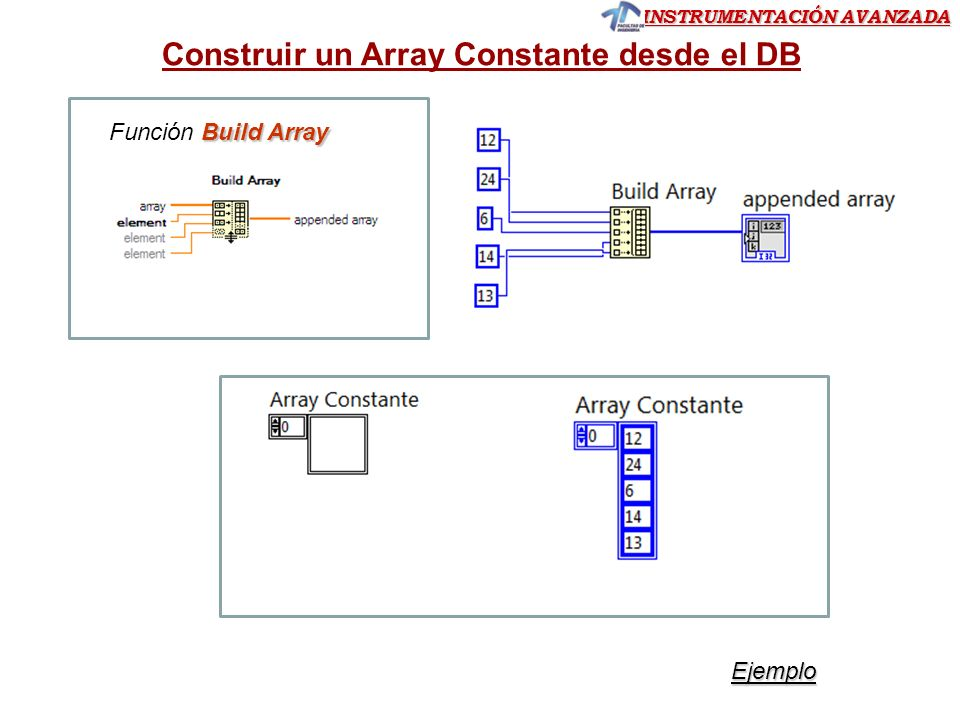 Construir un Array Constante desde el DB