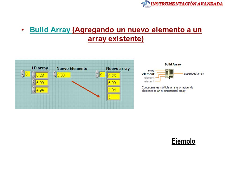 Build Array (Agregando un nuevo elemento a un array existente)