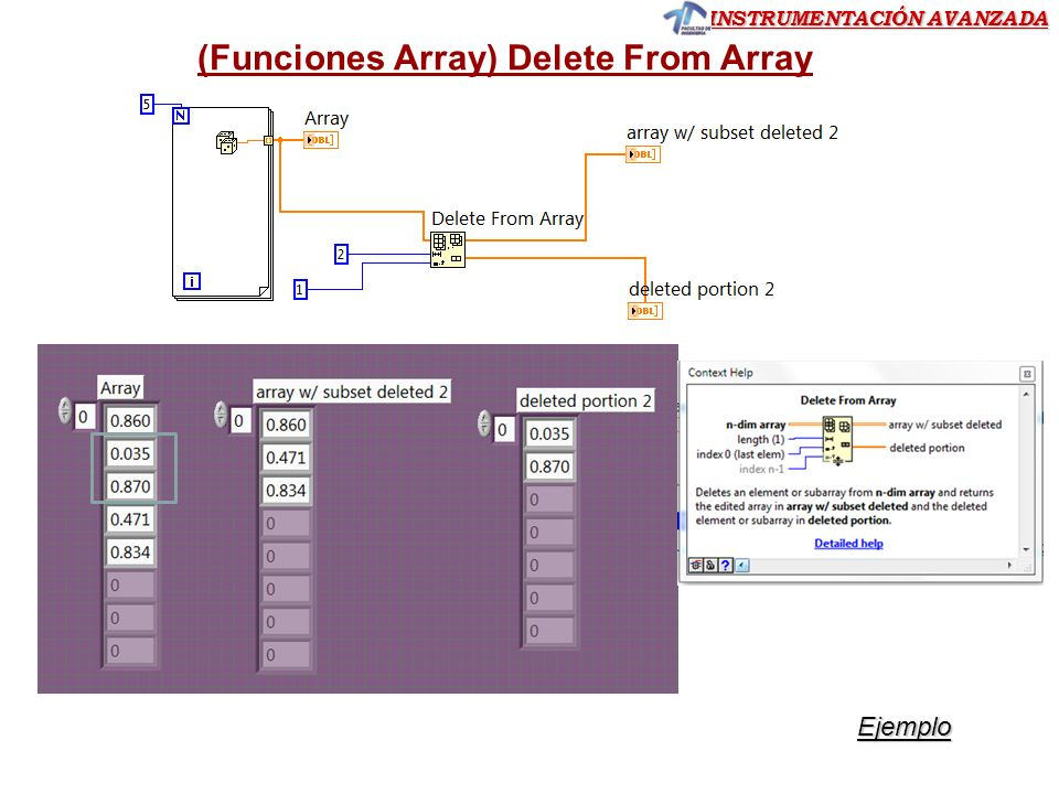 (Funciones Array) Delete From Array