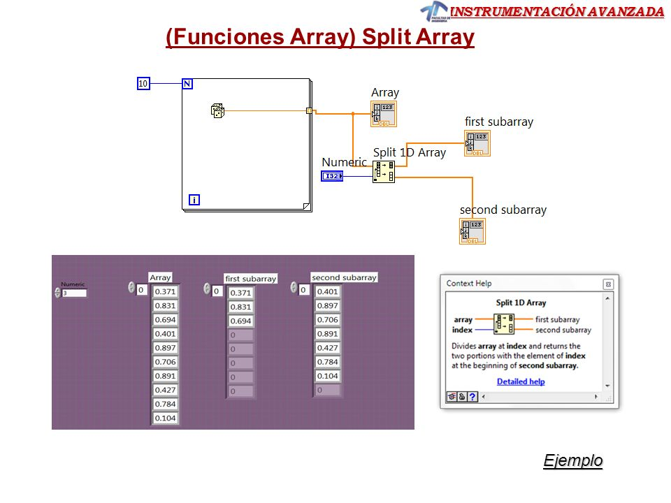 (Funciones Array) Split Array