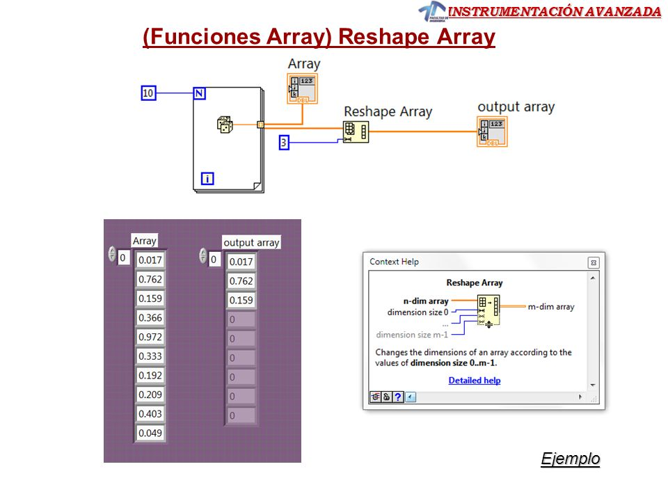 (Funciones Array) Reshape Array