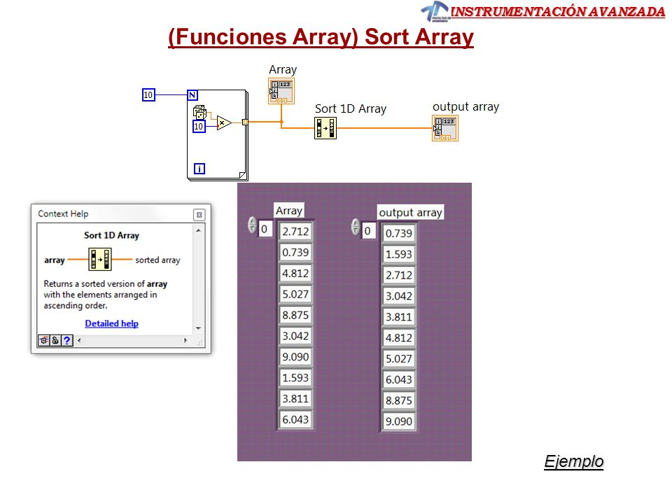 (Funciones Array) Sort Array