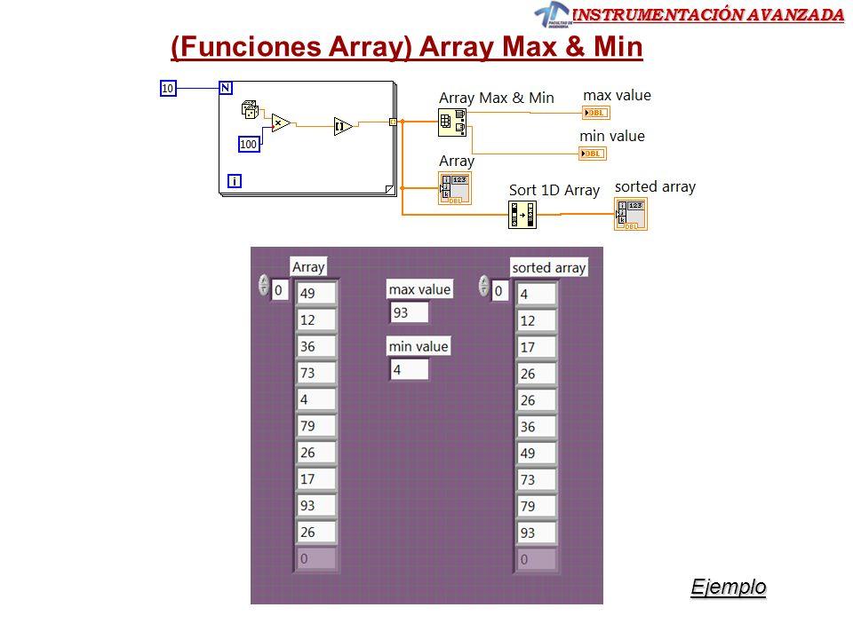 (Funciones Array) Array Max & Min