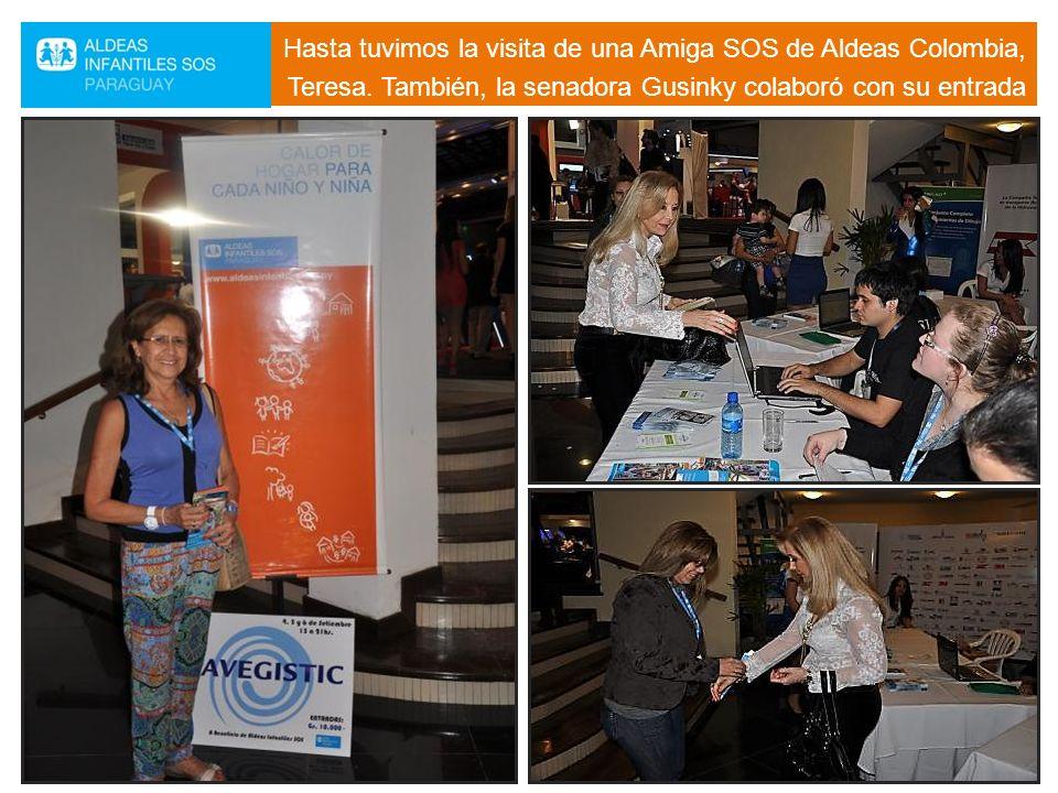 Hasta tuvimos la visita de una Amiga SOS de Aldeas Colombia, Teresa