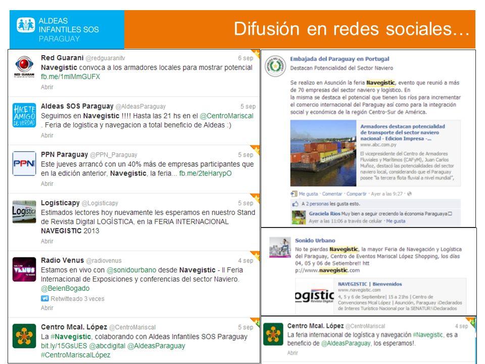 Difusión en redes sociales…