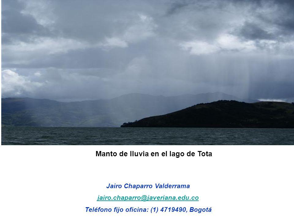 Manto de lluvia en el lago de Tota
