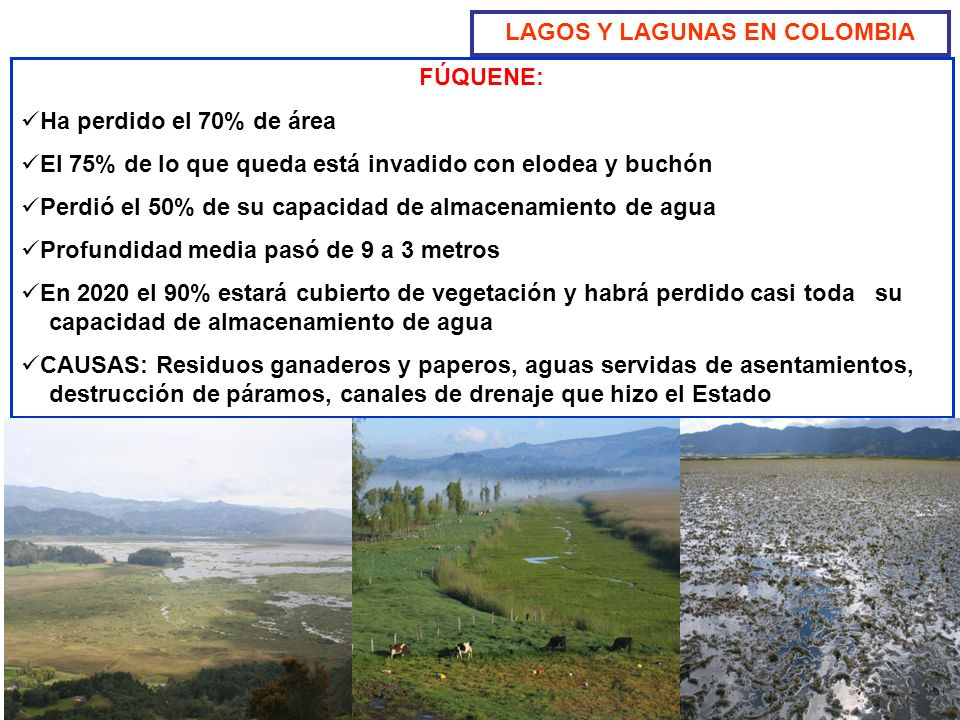 LAGOS Y LAGUNAS EN COLOMBIA