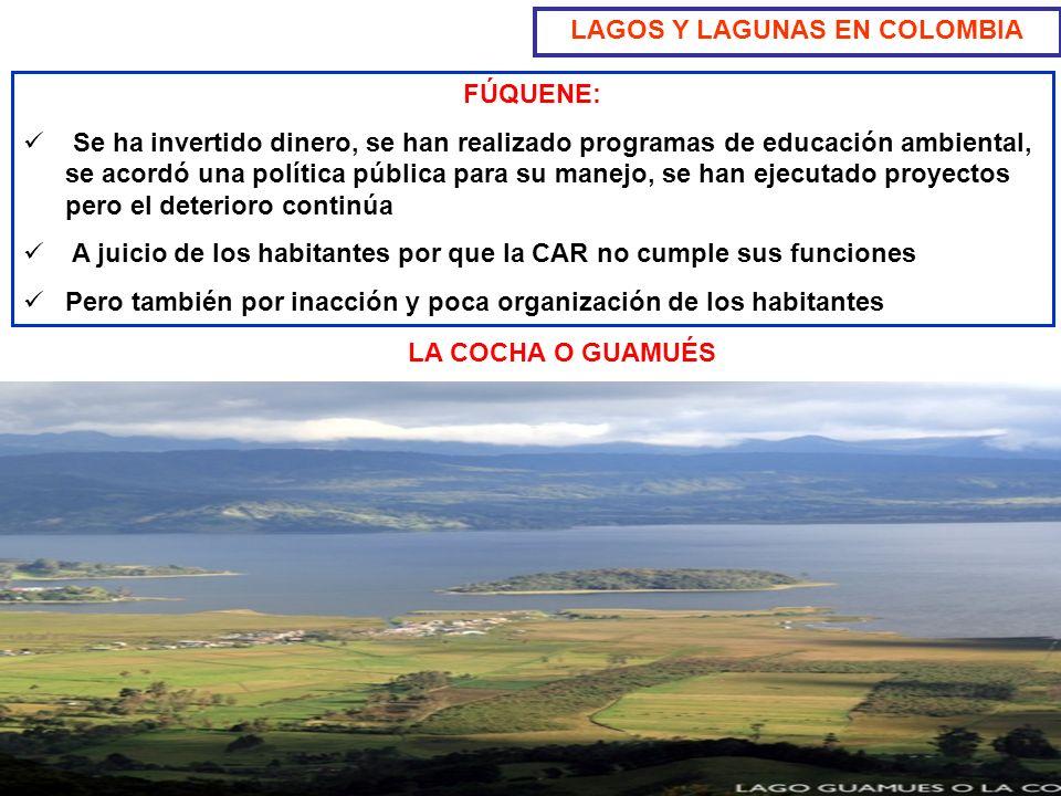 LAGOS Y LAGUNAS EN COLOMBIA Jairo Chaparro Valderrama