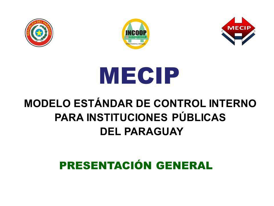 MODELO ESTÁNDAR DE CONTROL INTERNO PARA INSTITUCIONES PÚBLICAS