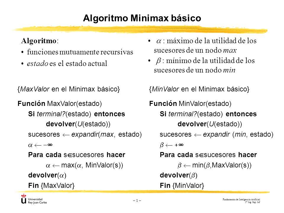 Algoritmo Minimax básico