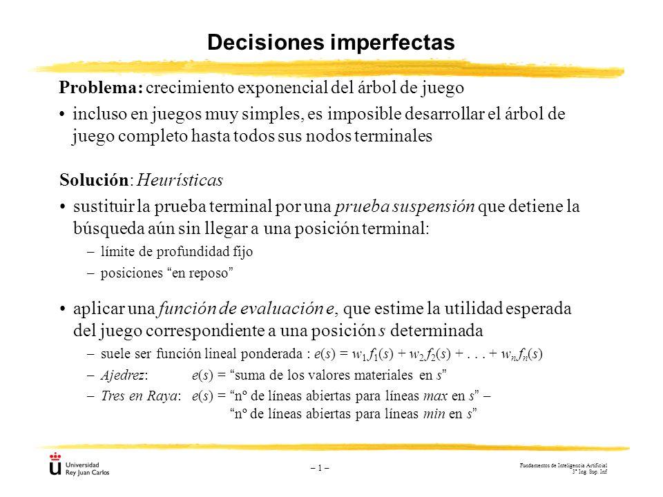 Decisiones imperfectas