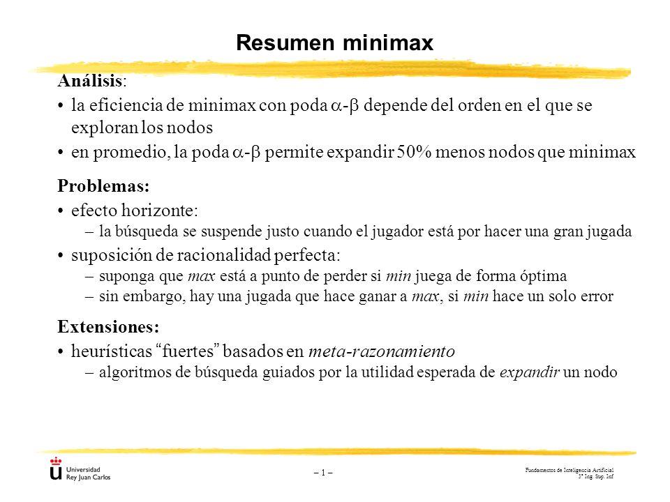 Resumen minimax Análisis: