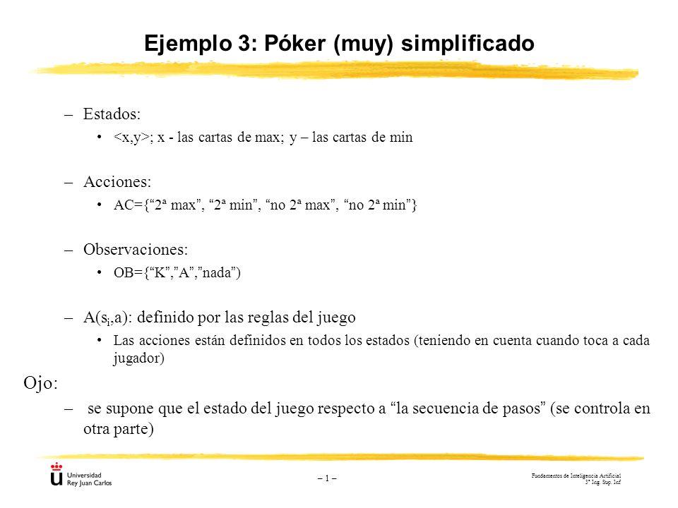 Ejemplo 3: Póker (muy) simplificado