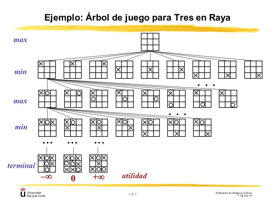 Ejemplo: Árbol de juego para Tres en Raya