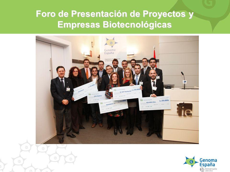 Foro de Presentación de Proyectos y Empresas Biotecnológicas