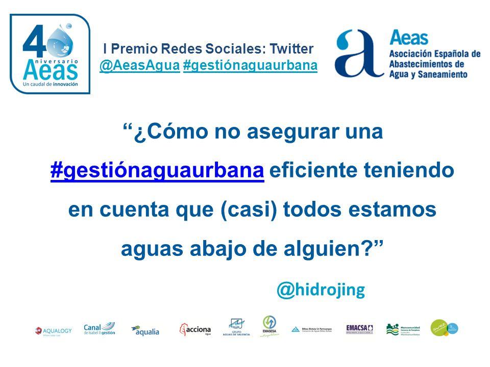 ¿Cómo no asegurar una #gestiónaguaurbana eficiente teniendo