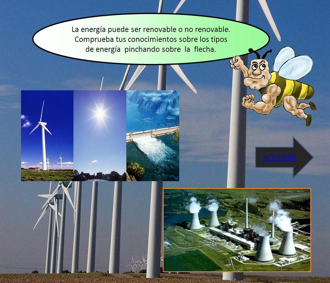 La energía puede ser renovable o no renovable