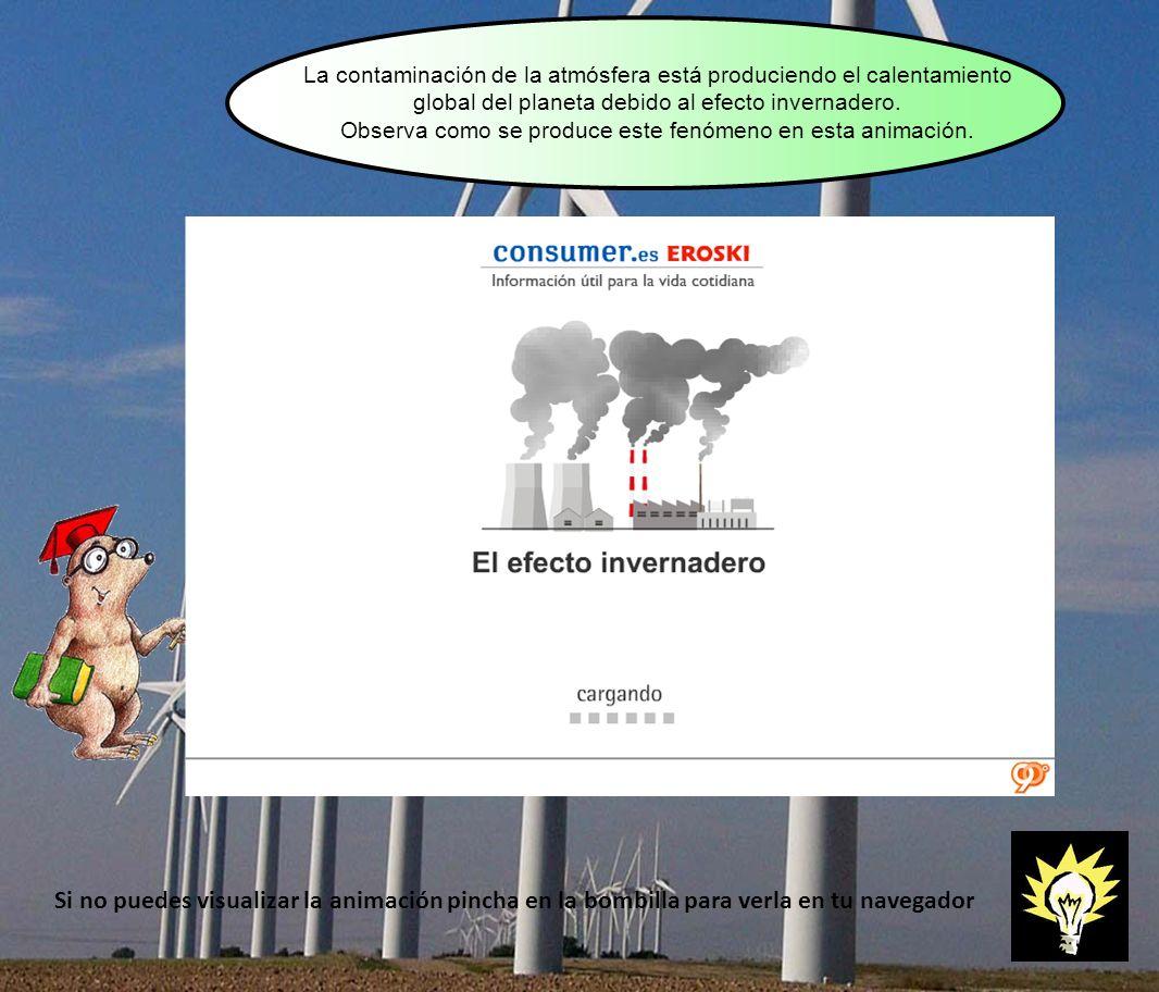 La contaminación de la atmósfera está produciendo el calentamiento