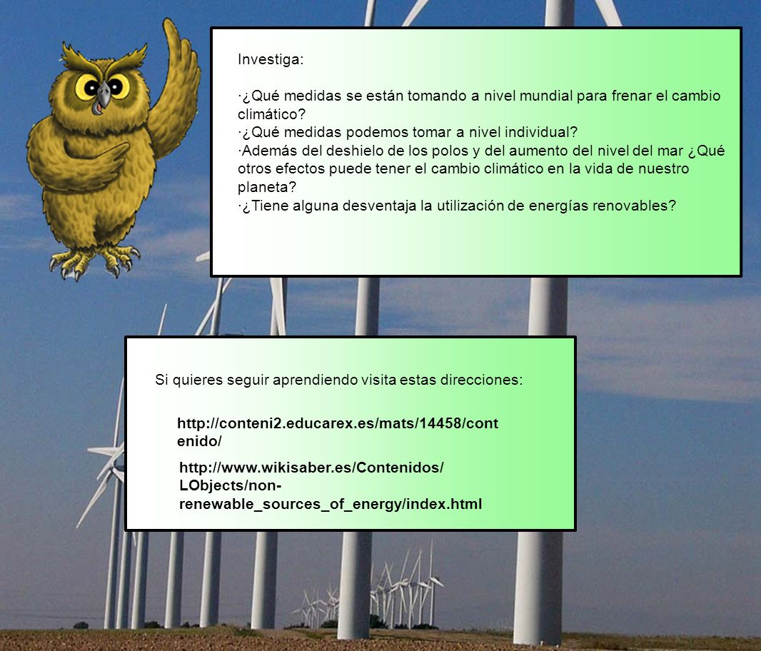 Investiga: ·¿Qué medidas se están tomando a nivel mundial para frenar el cambio climático ·¿Qué medidas podemos tomar a nivel individual