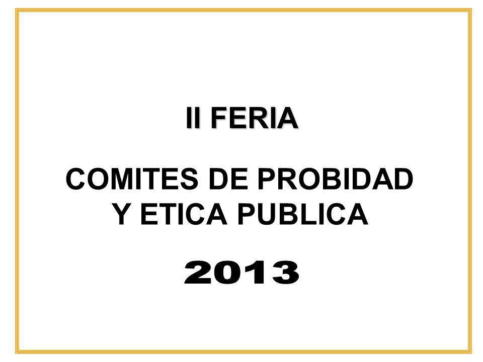 COMITES DE PROBIDAD Y ETICA PUBLICA