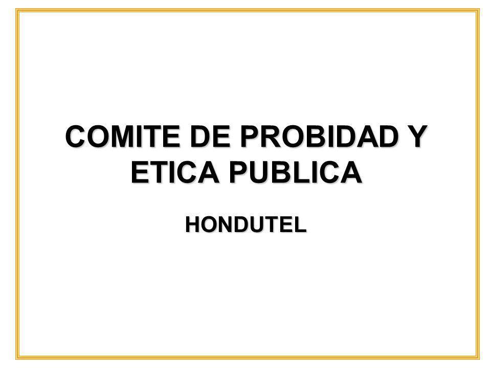 COMITE DE PROBIDAD Y ETICA PUBLICA