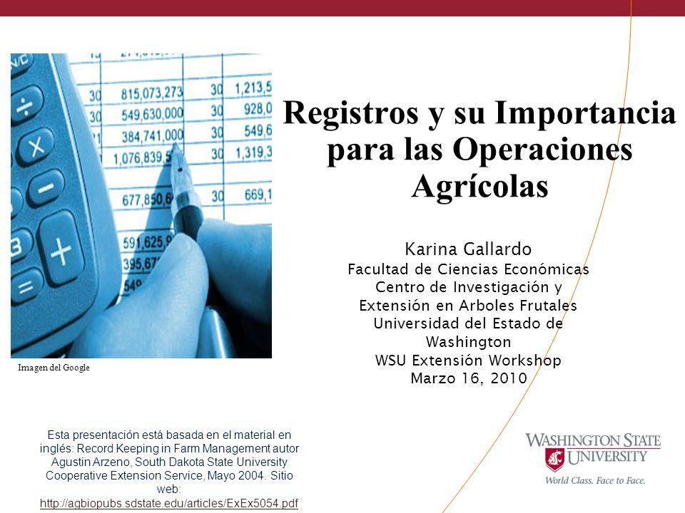 Registros y su Importancia para las Operaciones Agrícolas