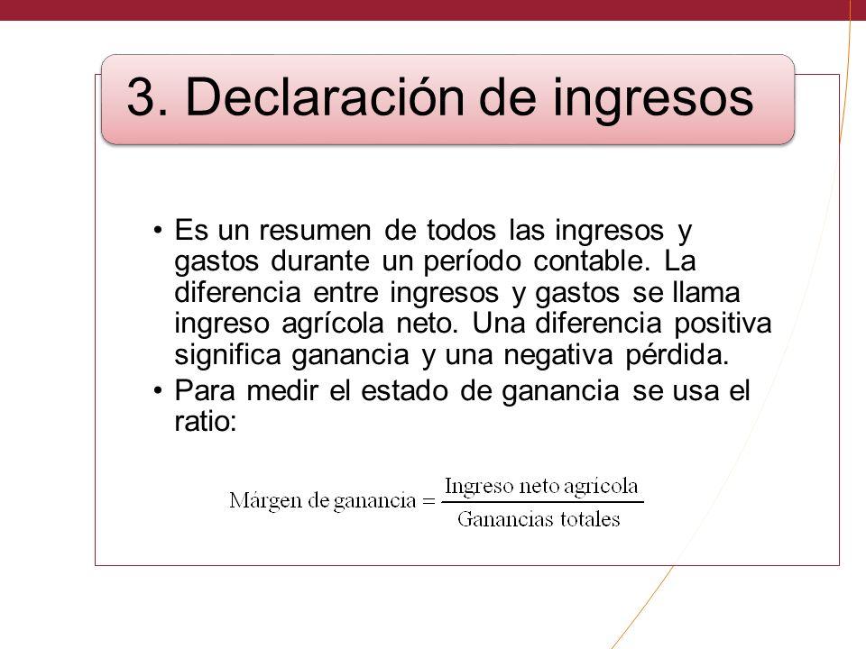 3. Declaración de ingresos