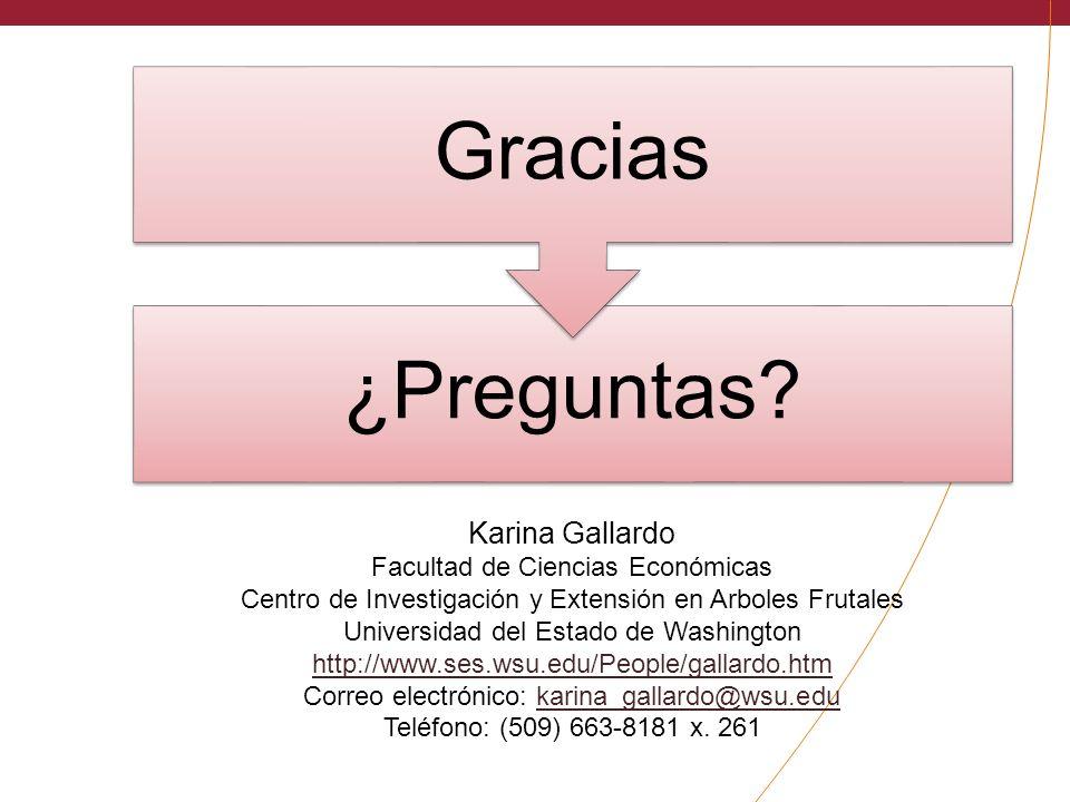Karina Gallardo Facultad de Ciencias Económicas
