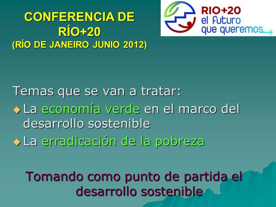 CONFERENCIA DE RÍO+20 (RÍO DE JANEIRO JUNIO 2012)