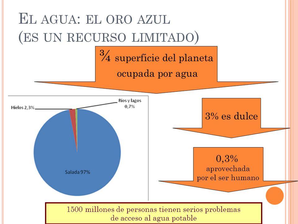 El agua: el oro azul (es un recurso limitado)