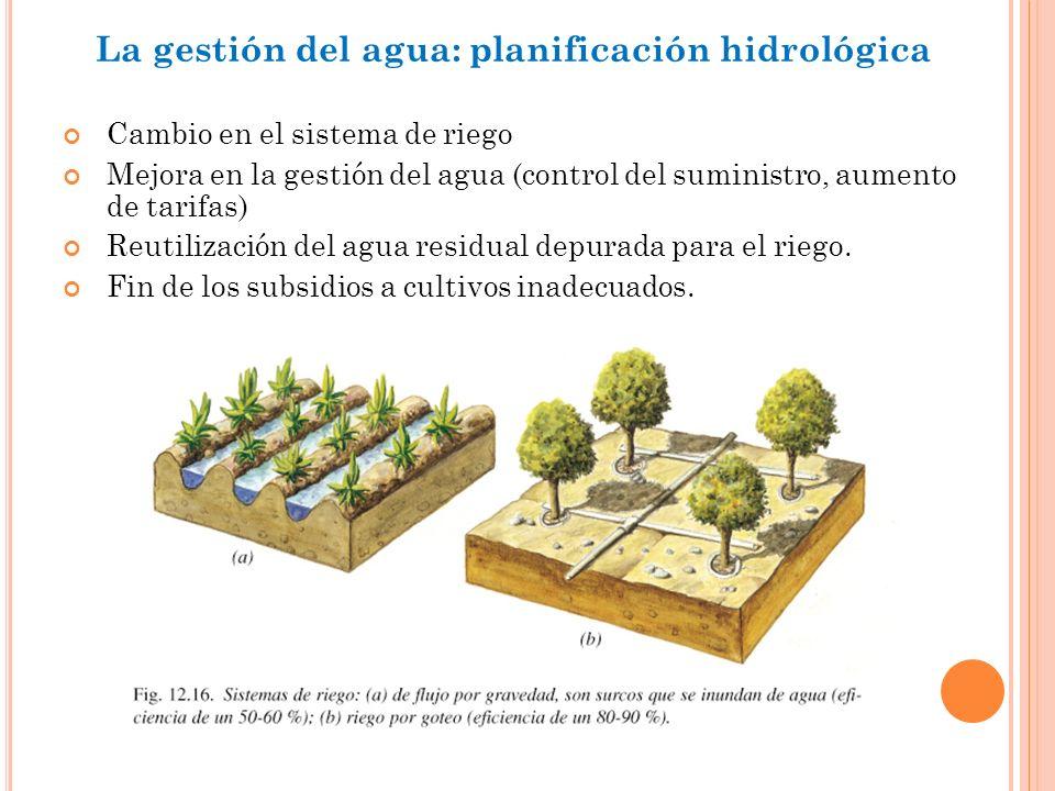 La gestión del agua: planificación hidrológica