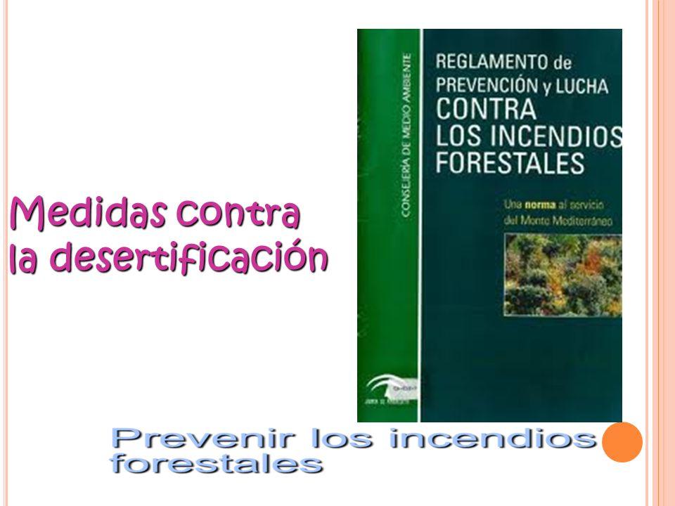 Medidas contra la desertificación