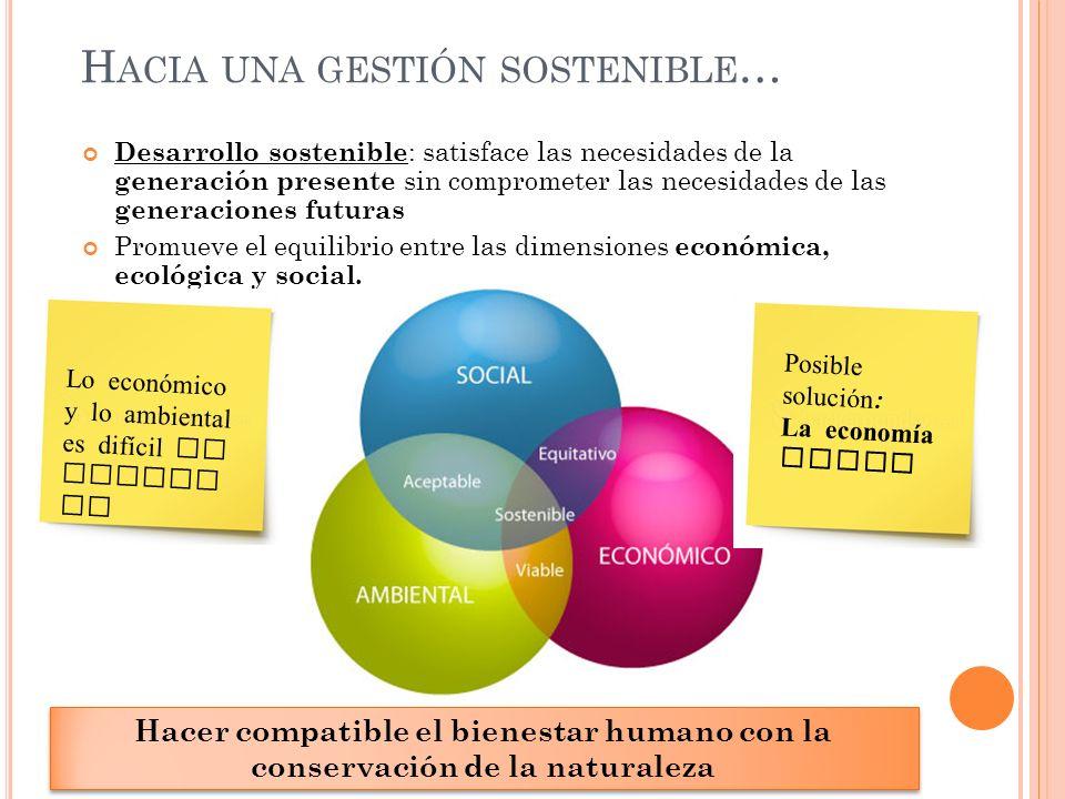 Hacia una gestión sostenible…