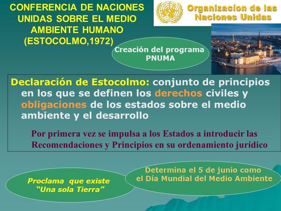 Determina el 5 de junio como el Día Mundial del Medio Ambiente