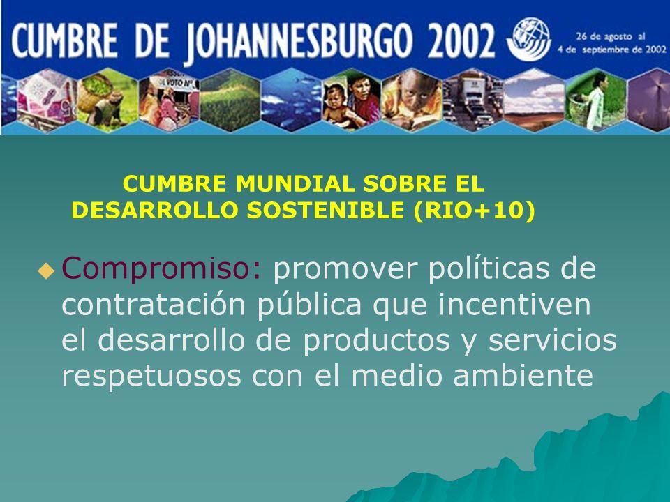 CUMBRE MUNDIAL SOBRE EL DESARROLLO SOSTENIBLE (RIO+10)