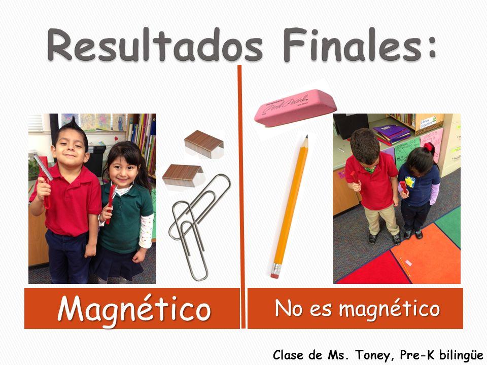 Resultados Finales: Magnético No es magnético
