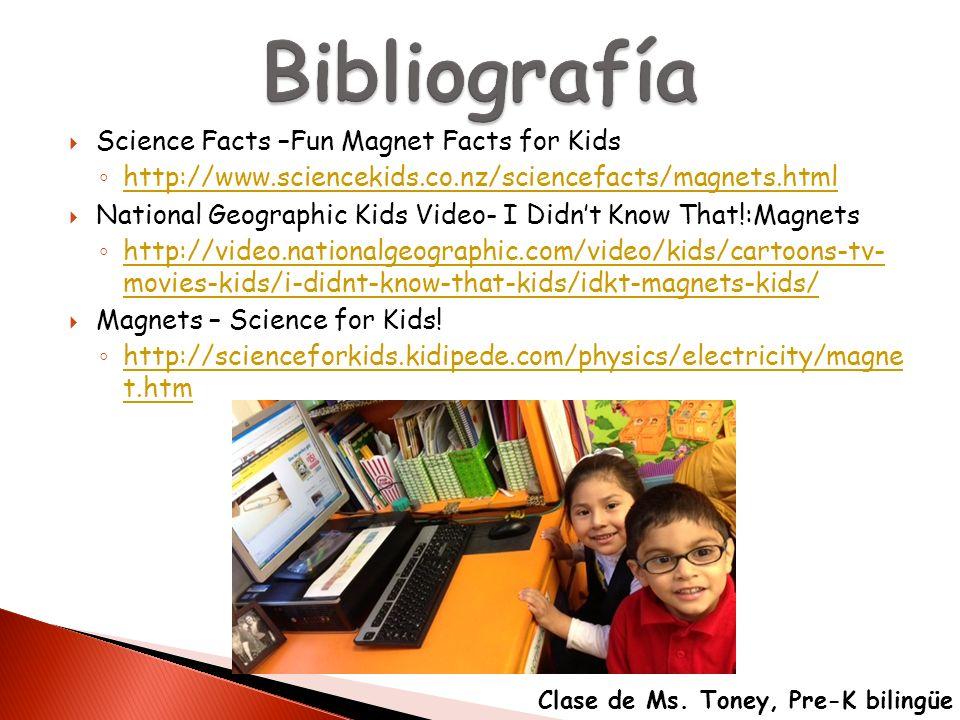 Bibliografía Science Facts –Fun Magnet Facts for Kids