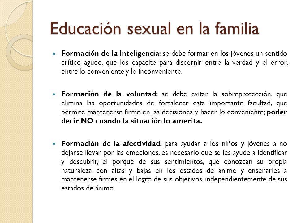 Educación sexual en la familia