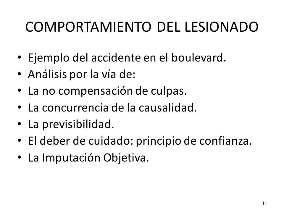 COMPORTAMIENTO DEL LESIONADO