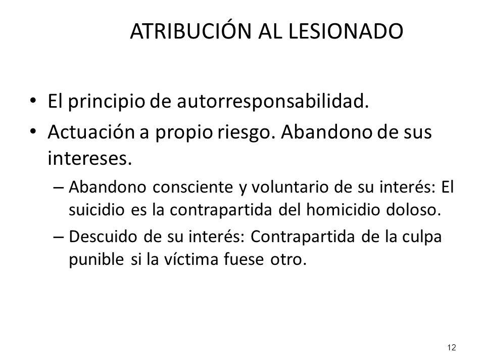 ATRIBUCIÓN AL LESIONADO