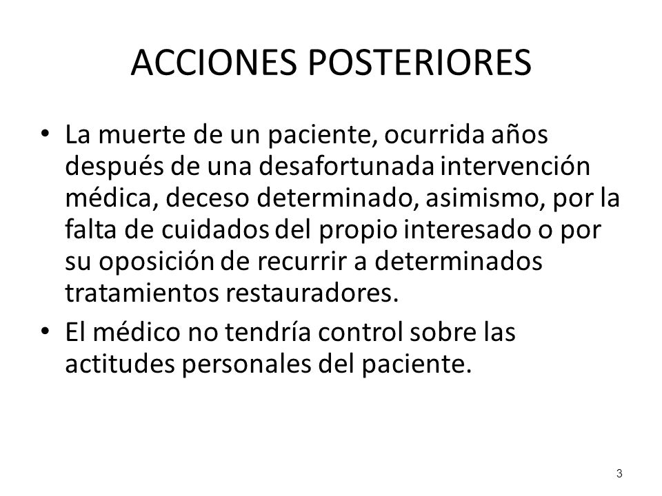 ACCIONES POSTERIORES
